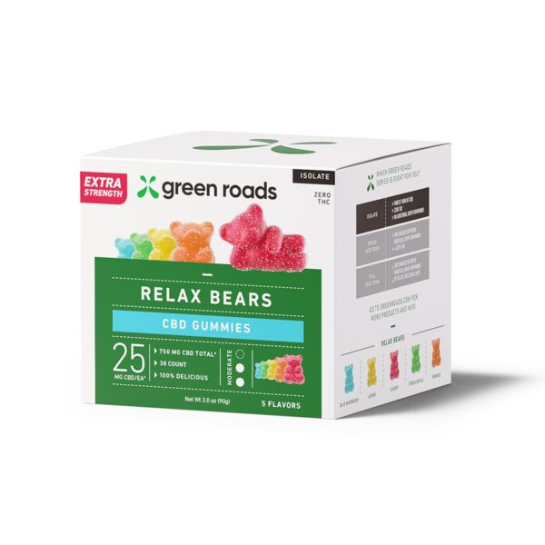 Green Roads Extra Strength Relax Bears